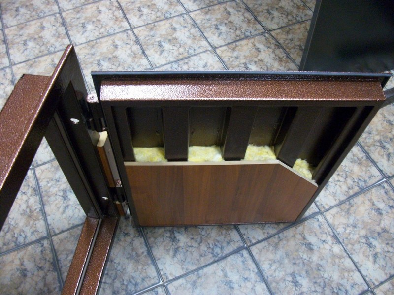 теплые металлические двери фото