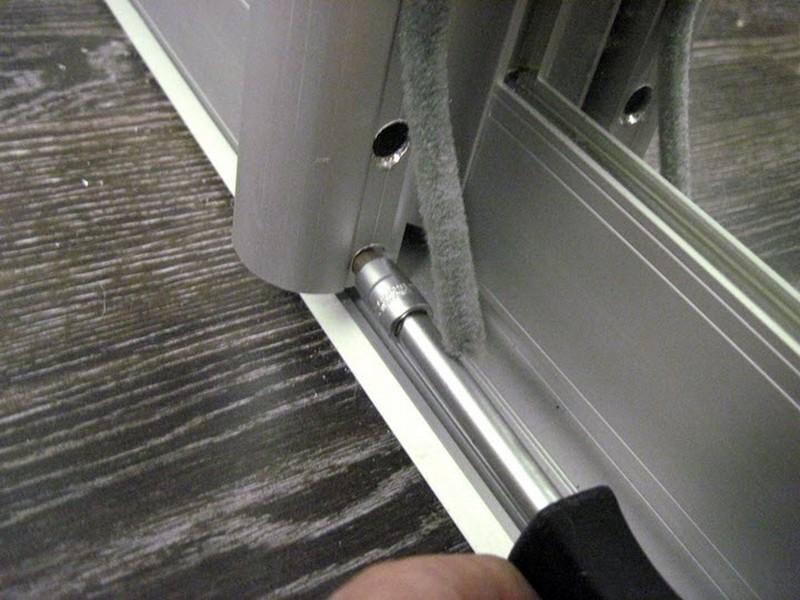 как установить двери для шкафа купе фото