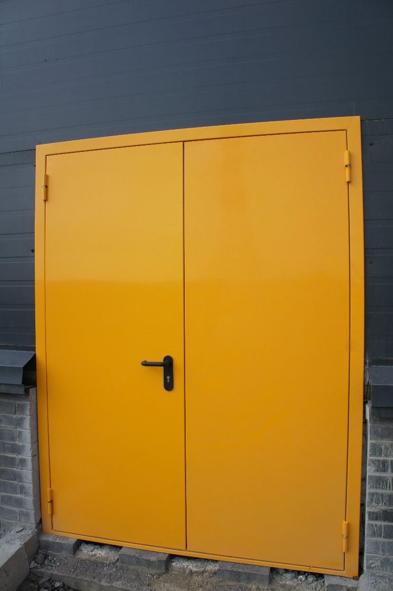 двупольная металлическая противопожарная дверь фото
