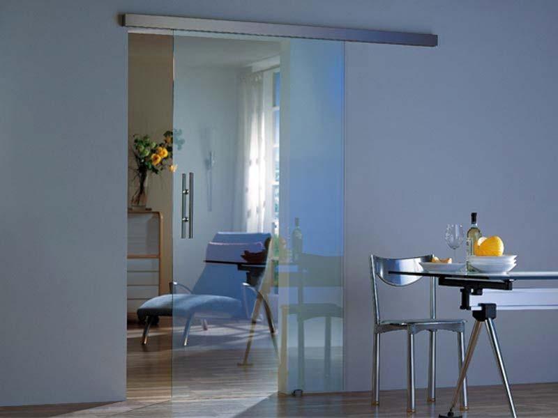 размеры стеклянных раздвижных дверей