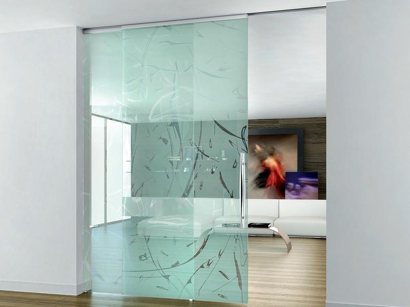 стеклянные раздвижные межкомнатные двери фото